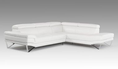white adjustable headrests right facing chaise leather sectional rh pinterest com