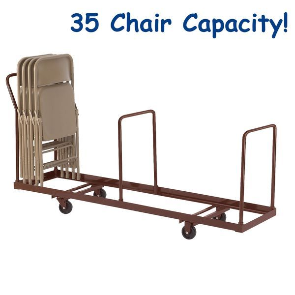 Linear Storage And Transport Folding Chair Dolly By National Public Seating Model Dy 35 Storage Chair Public Seating Folding Chair