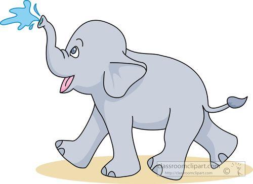 Clip Art Pictures Baby Elephant Cartoon Elephant Clip Art