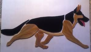 Image result for stained glass german shepherd
