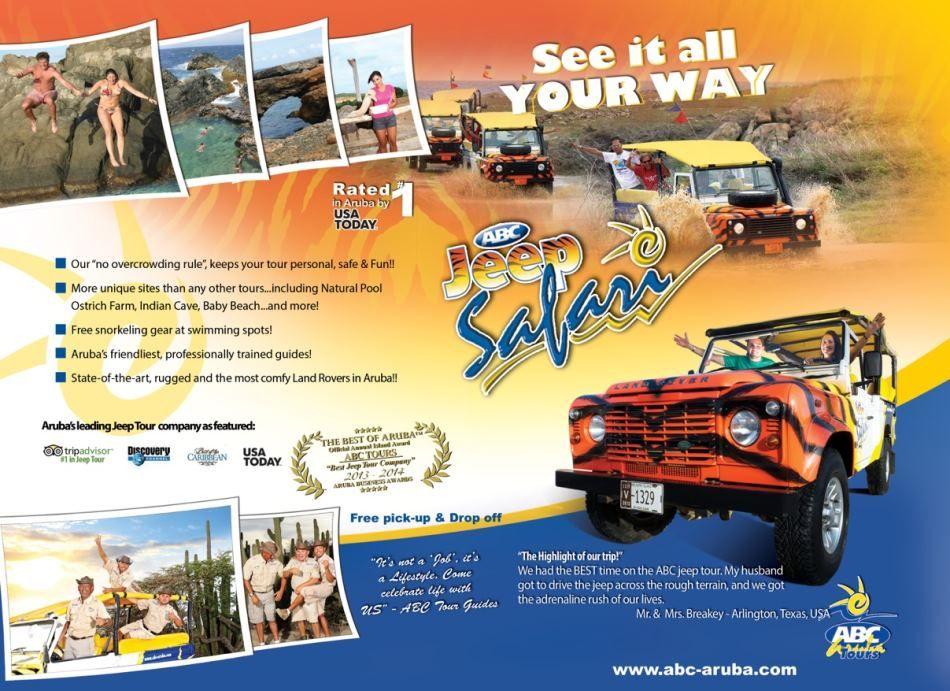The Jeep Safari Tours Of ABC Aruba
