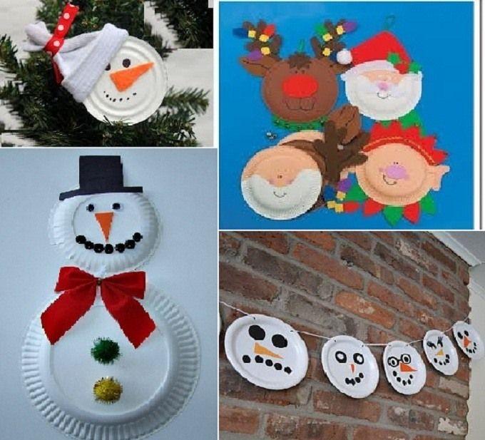 Como convertir tus platos desechables en adornos de for Decoracion navidena infantil
