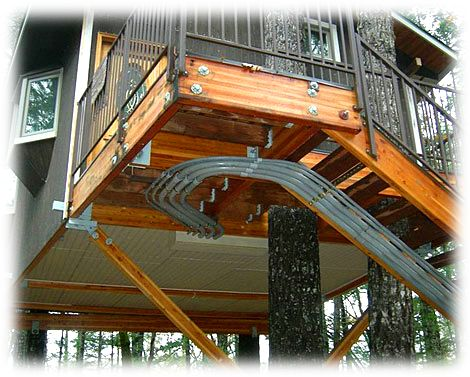 treehouse plumbing toilets showers