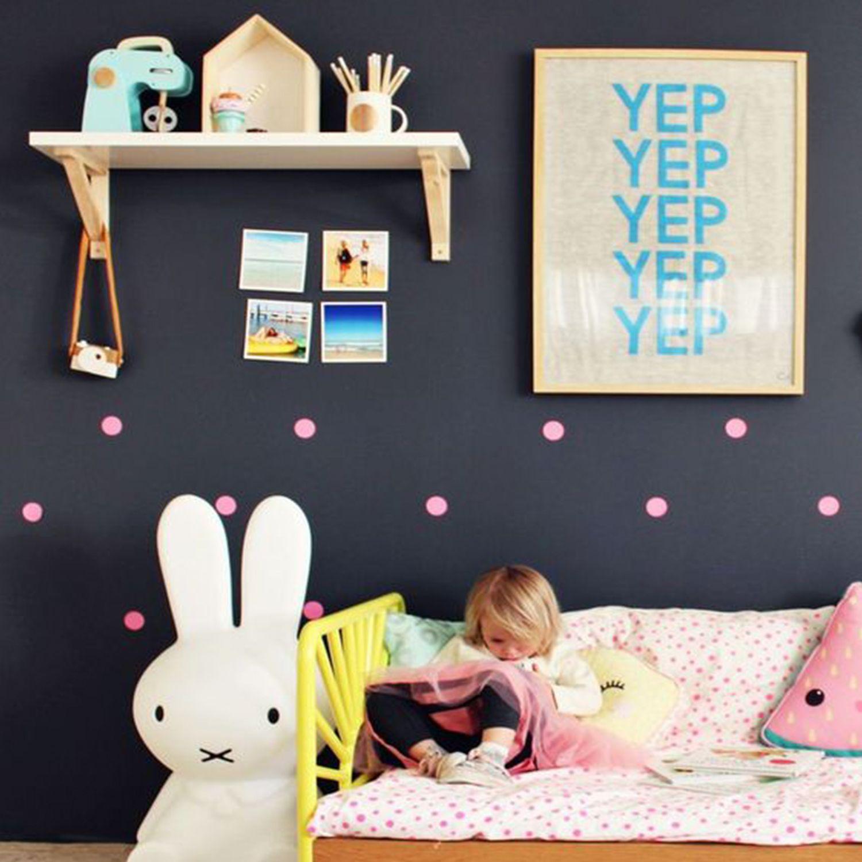 Habitaci N Infantil Moderna Con Topos Habitacion Habitaciones  ~ Decoracion Pared Habitacion Infantil