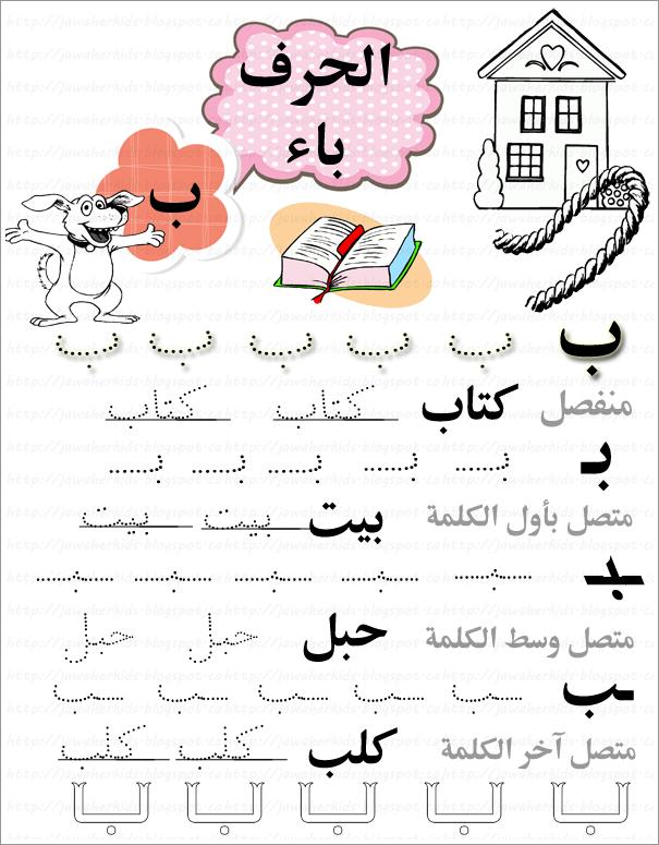ورقة عمل التدرب على أشكال الحرف باء Arabic Alphabet For Kids Arabic Alphabet Arabic Kids