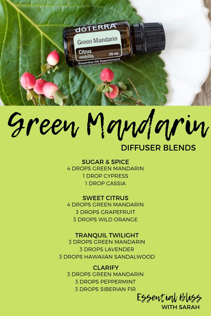 Green Mandarin Diffuser Blends Doterra Oils Recipes Essential Oil Diffuser Recipes Essential Oil Blends