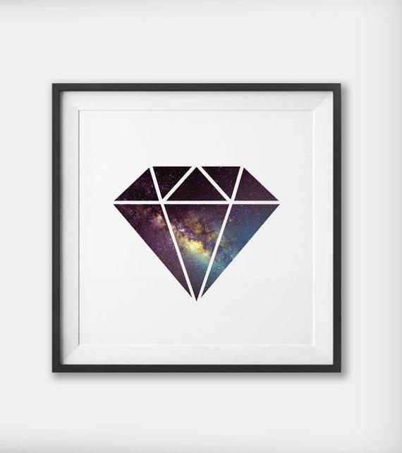 Diamond Print, Diamond Wall Art, Space Diamond Exploration