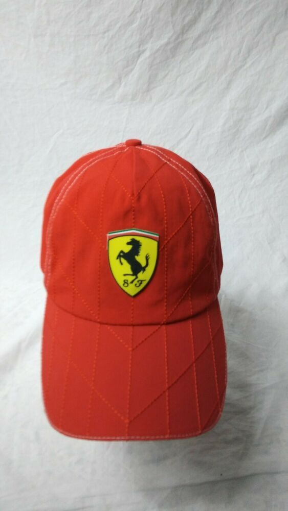 Scuderia Ferrari Hat Red Adjustable Hat Baseball Cap