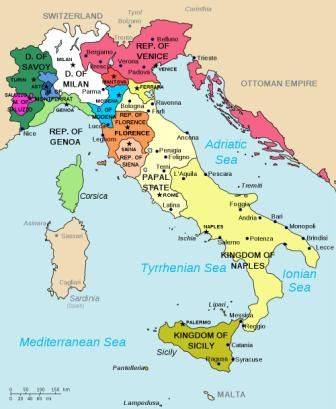 Simple Map Of Italy.This Is A Great Simple Explanation For Kids And Adults Alike Of