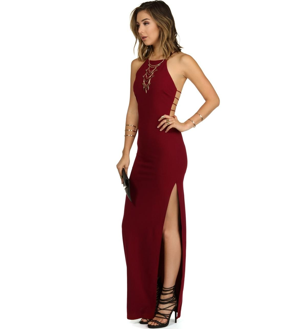 f822fccb03 Anna-Burgundy Prom Dress from Windsor. Shop more products from Windsor on  Wanelo.