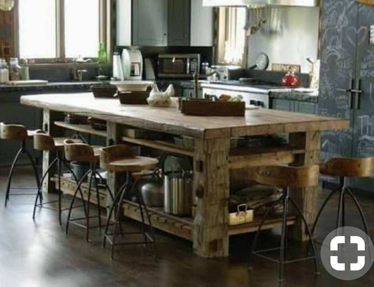 pin by jason conn on kitchens in 2019 rustic kitchen island rh pinterest com