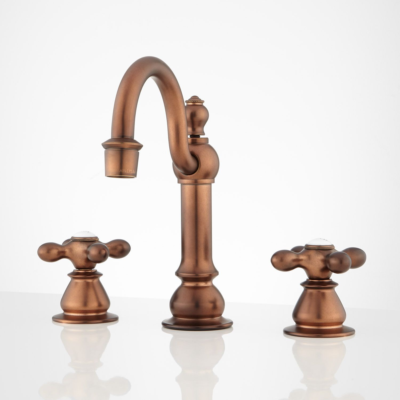 Bathroom Furniture Fixtures And Decor Signature Hardware Bathroom Decor Fixtures Furniture Hardwar In 2020 Antique Brass Faucet Bathroom Faucets Copper Bathroom
