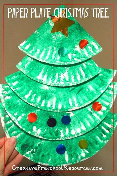 Super cute and easy Christmas trees for Preschool kids or Kindergarten.