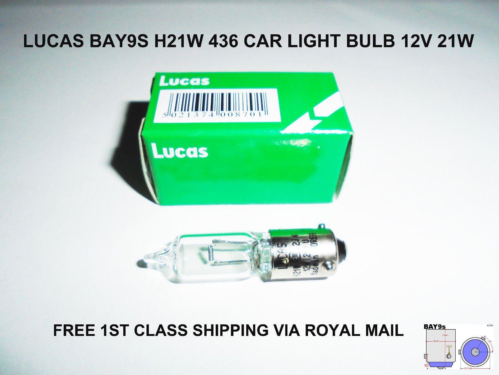 LUCAS LLB582 12V 21W WY21W CAPLESS W3x16D LIGHT BULB