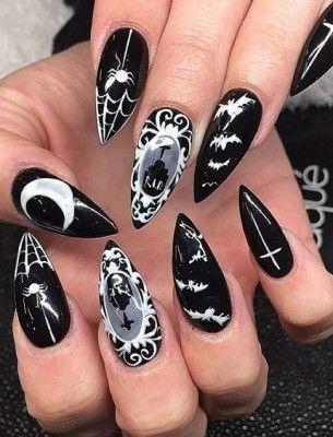 Like it? Get your nail polish here: http://www.fantasmagoria.eu/cosmetics-makeup/makeup/nails #gothicnails #darknails #naildesign #blacknailpolish