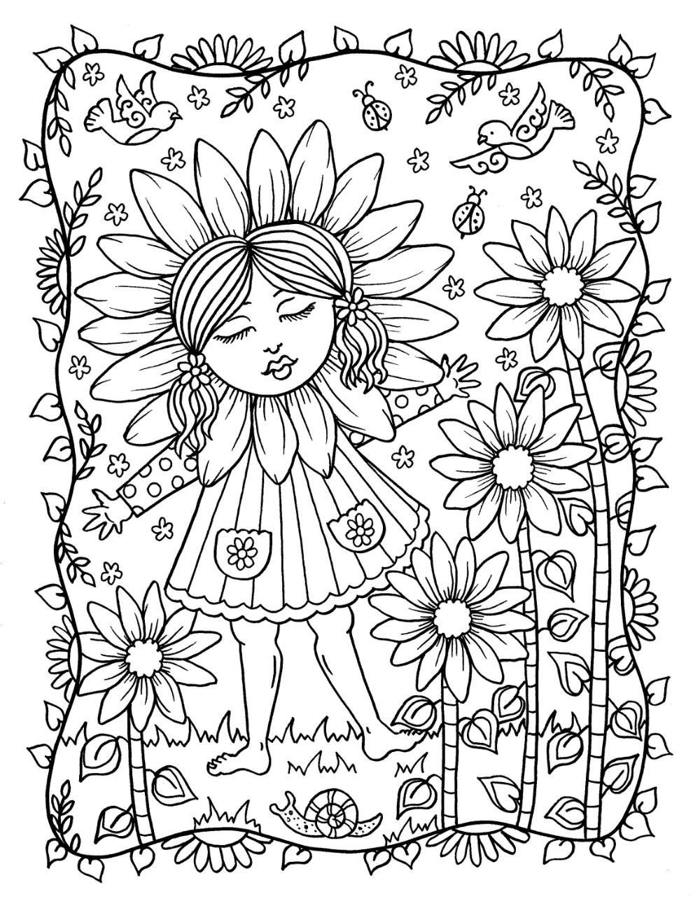 Springtime A Whimsical Coloring Adventure Digital Download Etsy Vintage Coloring Books Coloring Books Fathers Day Crafts