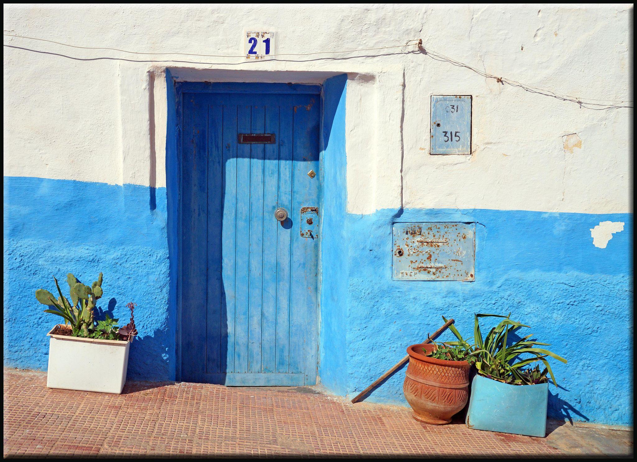 a Sidi Ifni door in blue. Ifni, Souss-Massa-Draa, Morocco | Explore mhobl's photos on Flickr.… | Flickr - Photo Sharing!