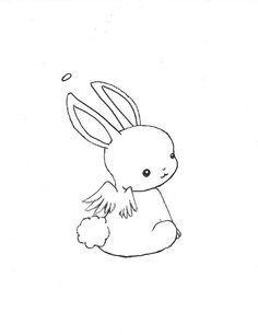 Cute Bunny Angel Bunny Tattoo Small Rabbit Tattoos Kawaii Tattoo
