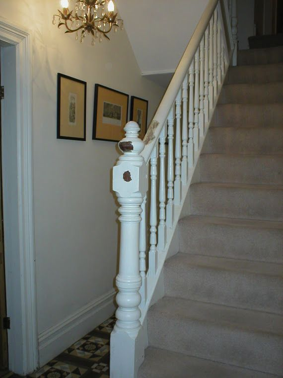 Victorian house renovation u.k.: stripping the victorian staircase ...