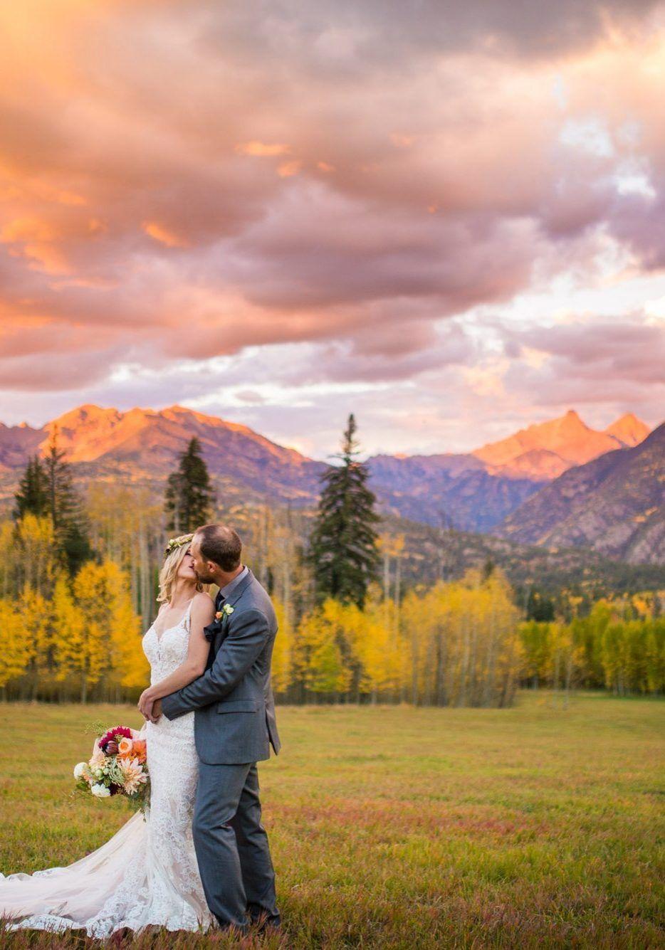 Rocky Mountain Wedding Inspiration Fall mountain wedding