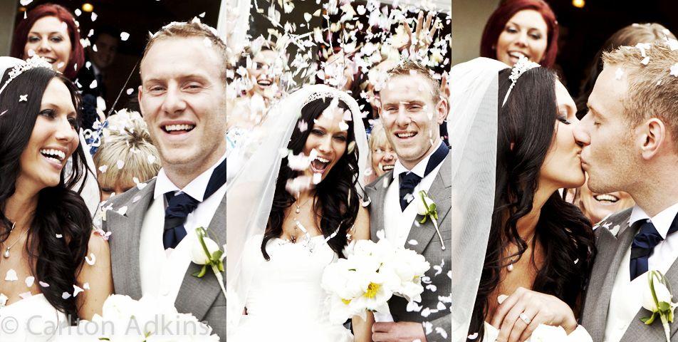#Mottram Hall #Wedding #Photography .. The #wedding #confetti outside the wedding venue in Cheshire