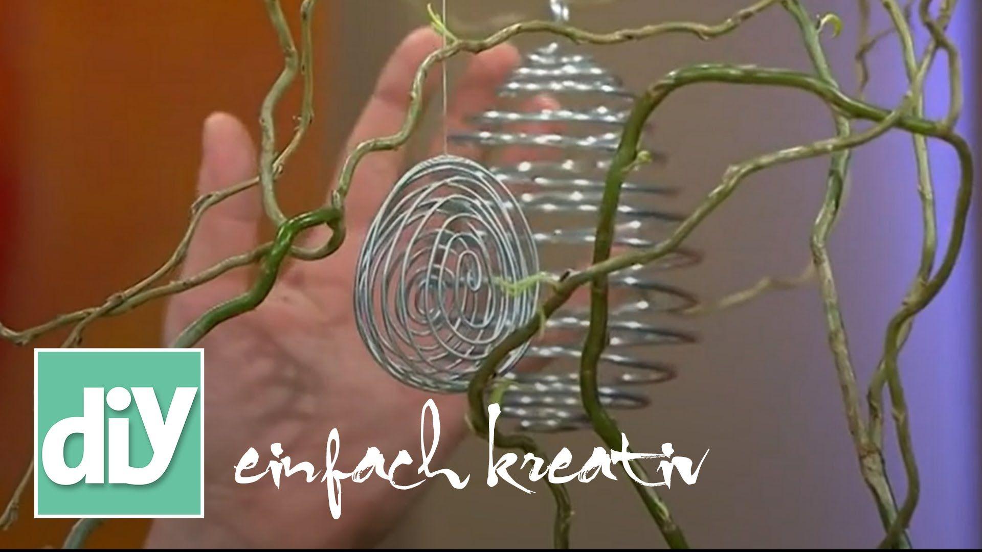 Ostereier aus Draht | DIY einfach kreativ | KREATIV | Pinterest | Easter