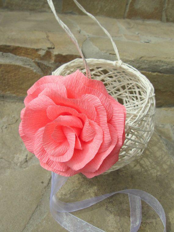 Handwoven Flower Girl  Basket/ Rustic Flower Girl by LandofFlowers, $19.00