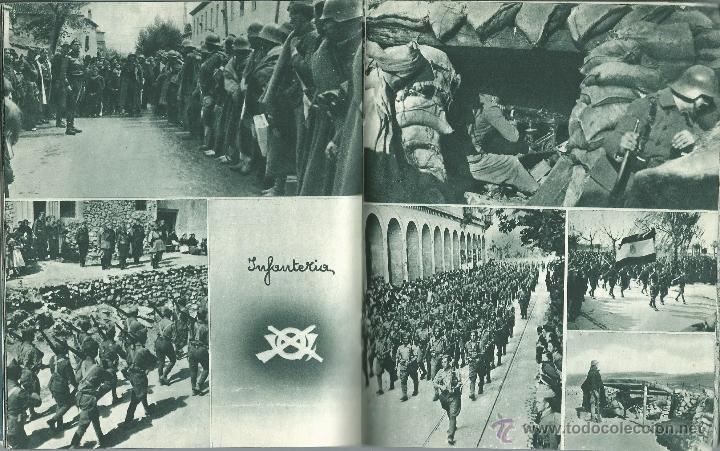 Militaria: LIBRO 52 PAG. DE - ESTAMPAS DE LA GUERRA CON MAS DE 214 FOTOS ALGUNAS INEDITAS EDIT. ZARAGOZA 1937 - Foto 4 - 50755806