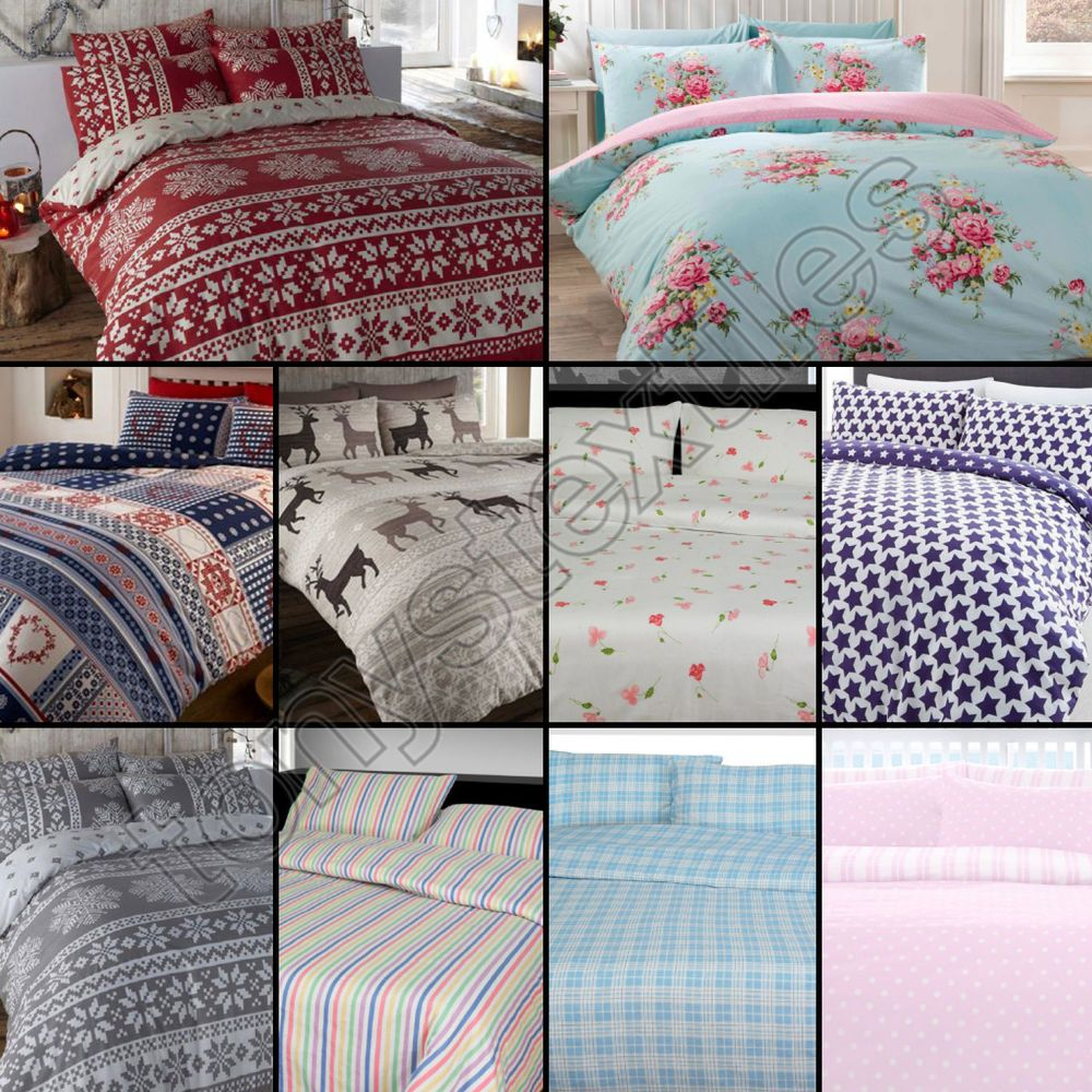 100% Warm Brushed Cotton Duvet Cover
