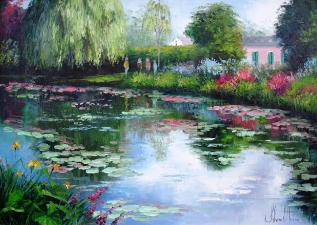 jardins de monet pintura pesquisa google claude monet pinterest monet and claude monet. Black Bedroom Furniture Sets. Home Design Ideas
