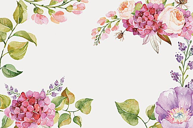 Posters Floral Watercolor Background Floral Watercolor