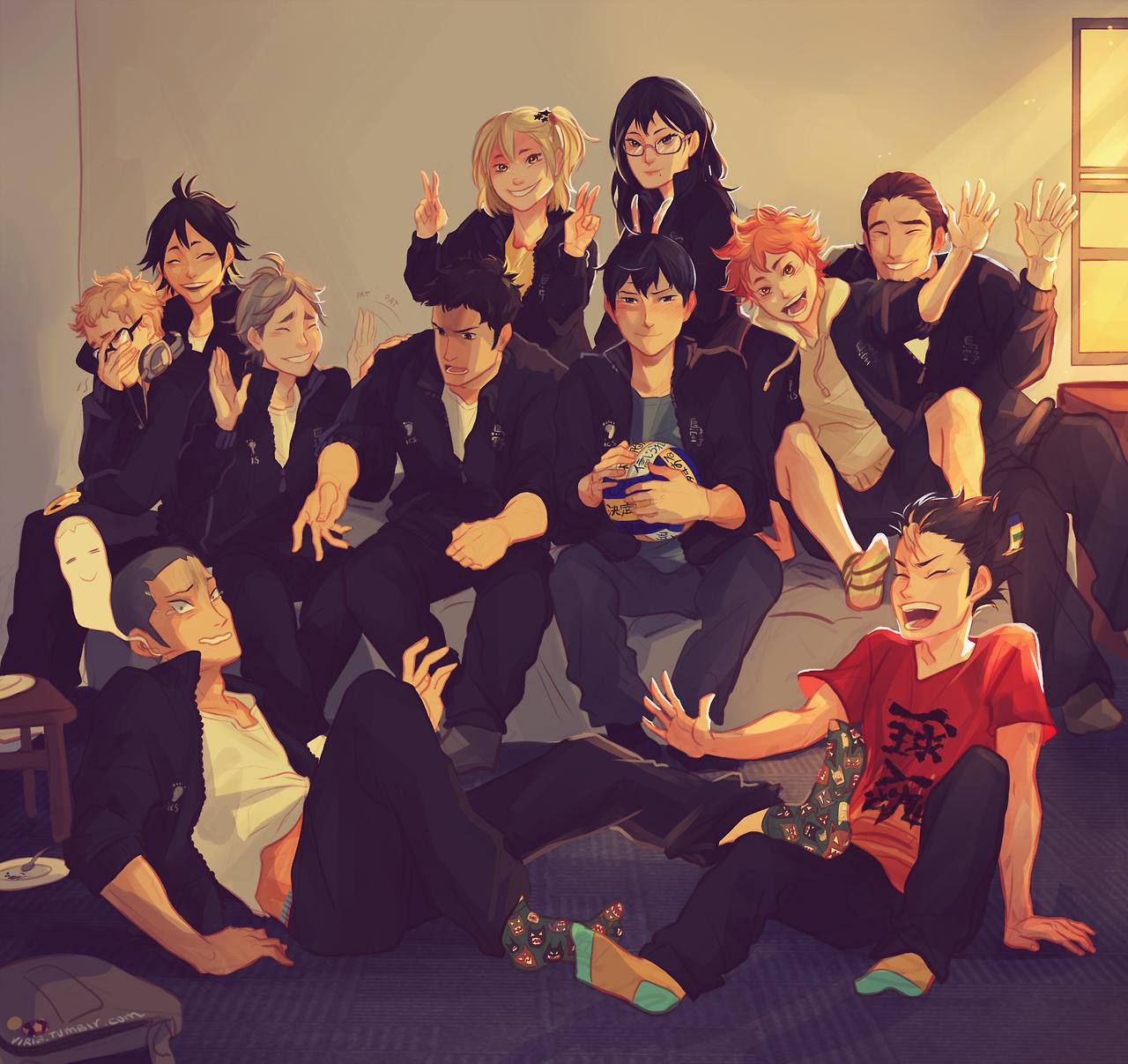 The Team by Viria Haikyuu!! Anime Imagenes chibi