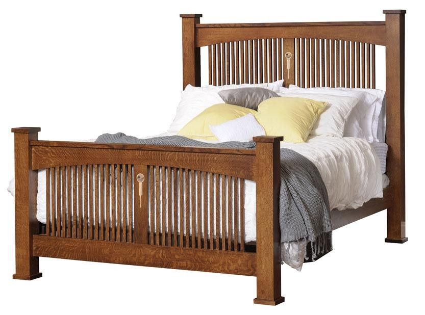 Tree Crowns Craftsman Spindle Bed Bedroom Furniture Made In The