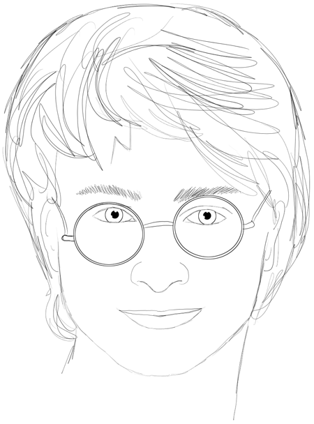 How To Draw Harry Potter Step By Step Drawing Lesson Daniel Radcliffe How To Draw Step By Step Drawing Tutorials Harry Potter Drawings Harry Potter Drawings Easy Harry Potter Sketch