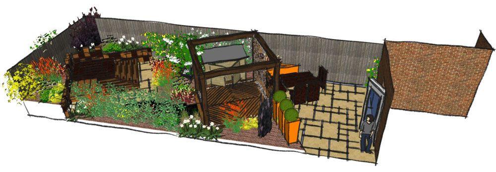 Modern Town Garden East London - Earth Designs Garden ...