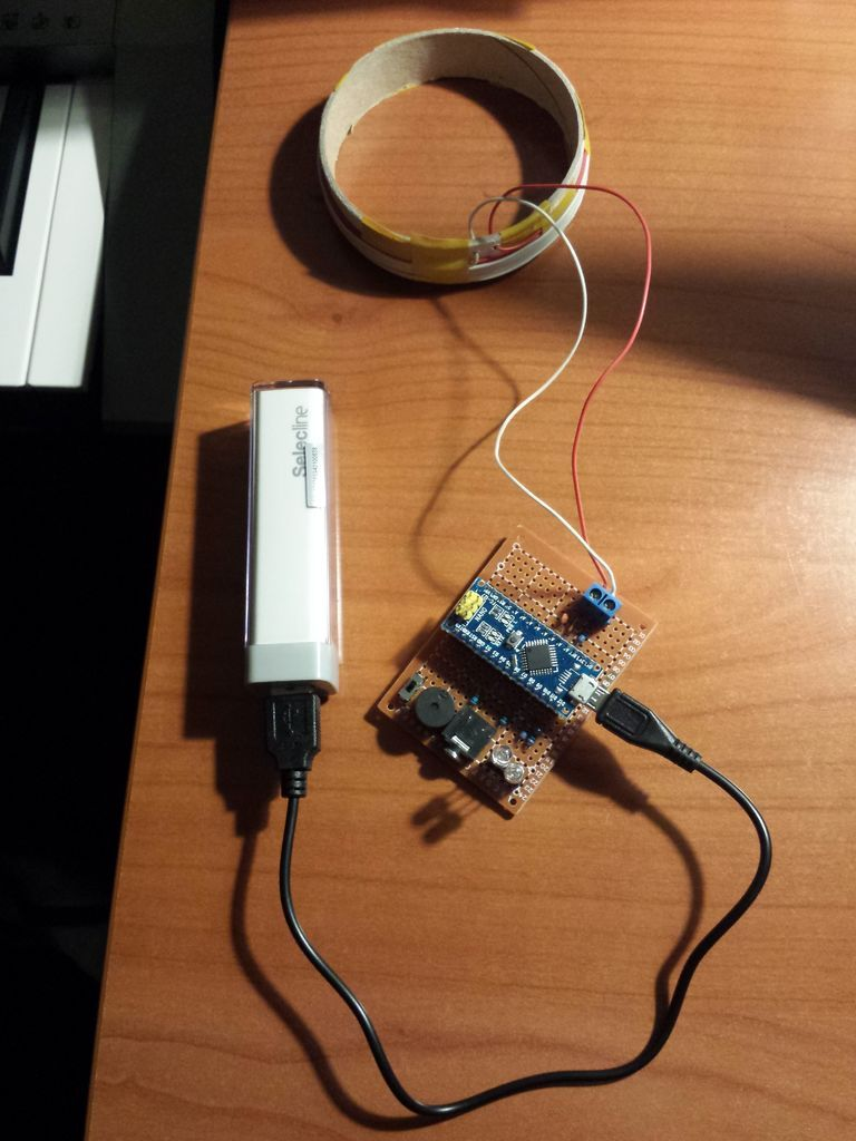 Simple Arduino Metal Detector Elec Pinterest Circuit Picture Of A Soldered Version