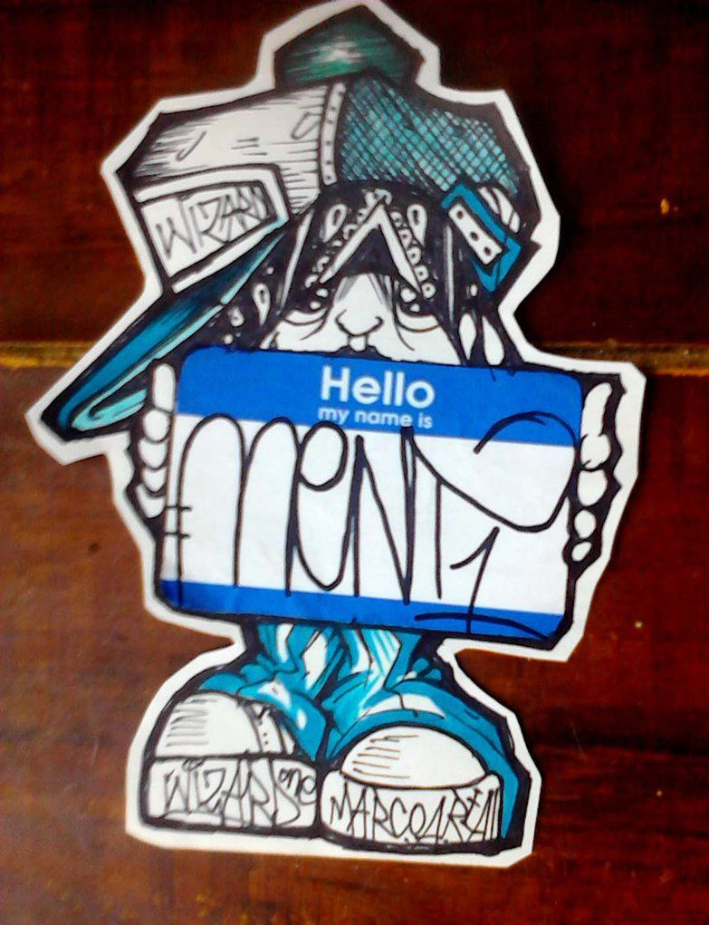 Graffiti character sticker by wizard1labels deviantart com on deviantart graffiti characters street