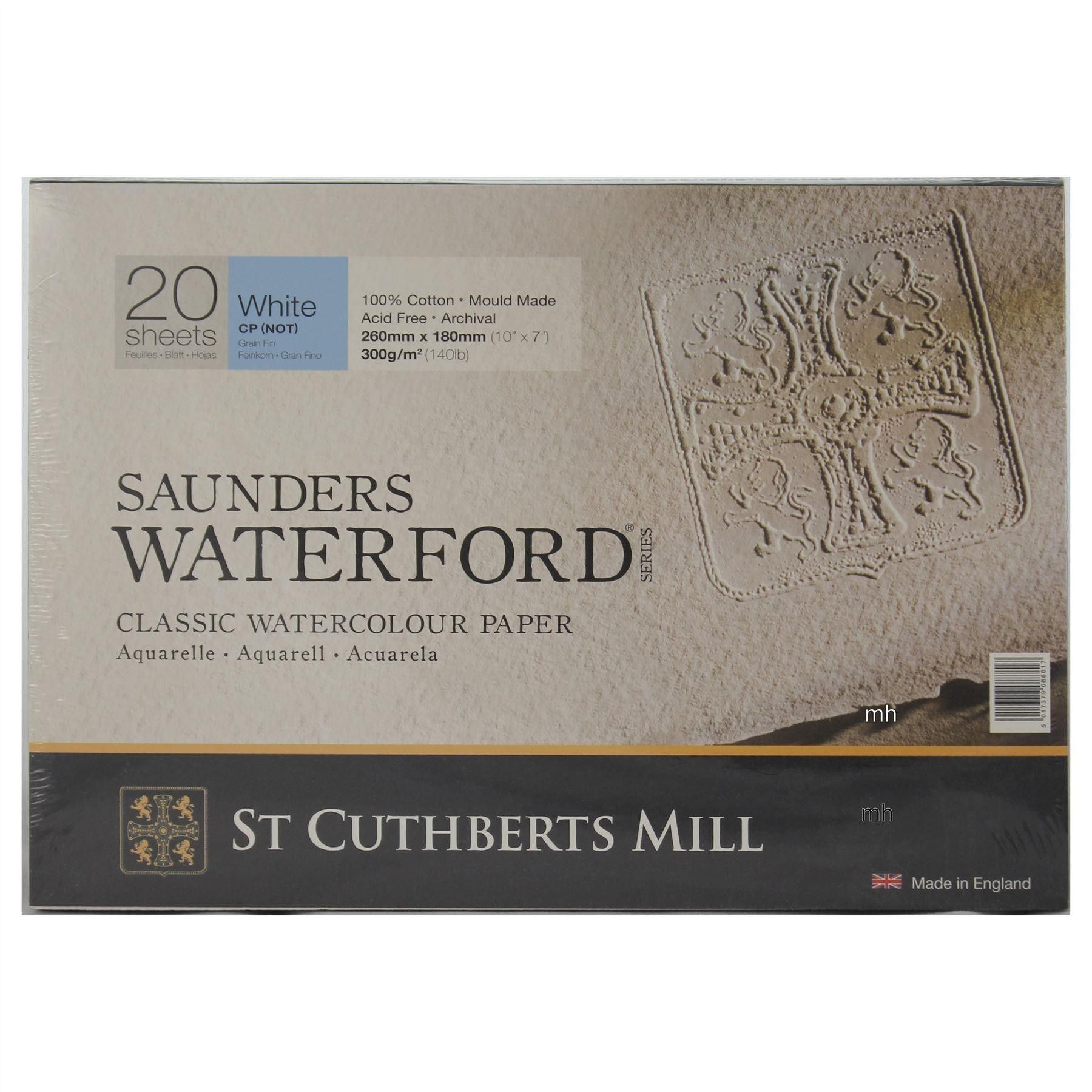 Saunders Waterford Cold Press Classic Watercolour Paper Blocks