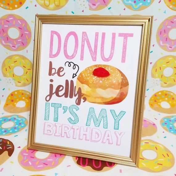 Donut Word Art Bundle/ Party Printable/ First Birthday