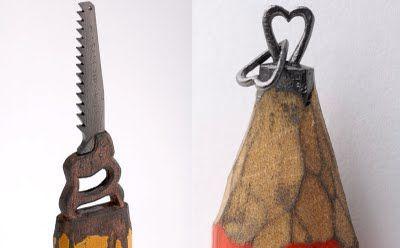 Carved from graphite pencils by Dalton Ghetti