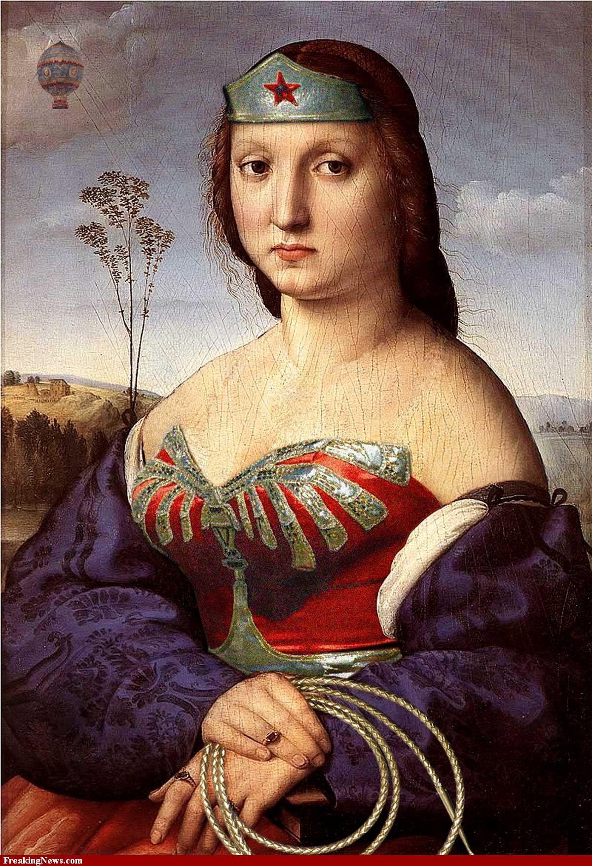 Wonder Woman as Raphael's Renaissance Woman ) La