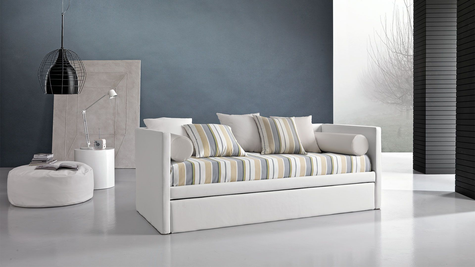 Sofa Bed Contemporary Leather Fabric Move Giessegi  # Giessegi Muebles Infantil