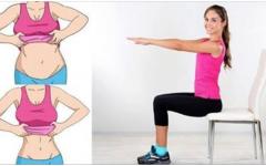 5 exercícios que Podem Fazer numa Cadeira Para Reduzir a Gordura da Barriga Rapidamente!