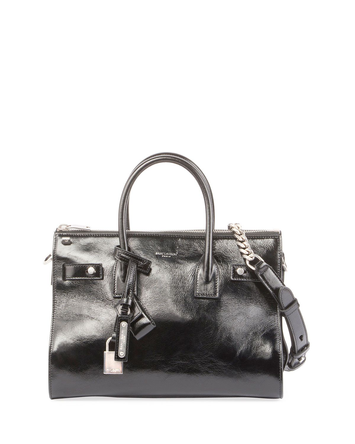 70f857f108b Saint Laurent Sac de Jour Baby Crinkled Leather Tote Bag | Products ...