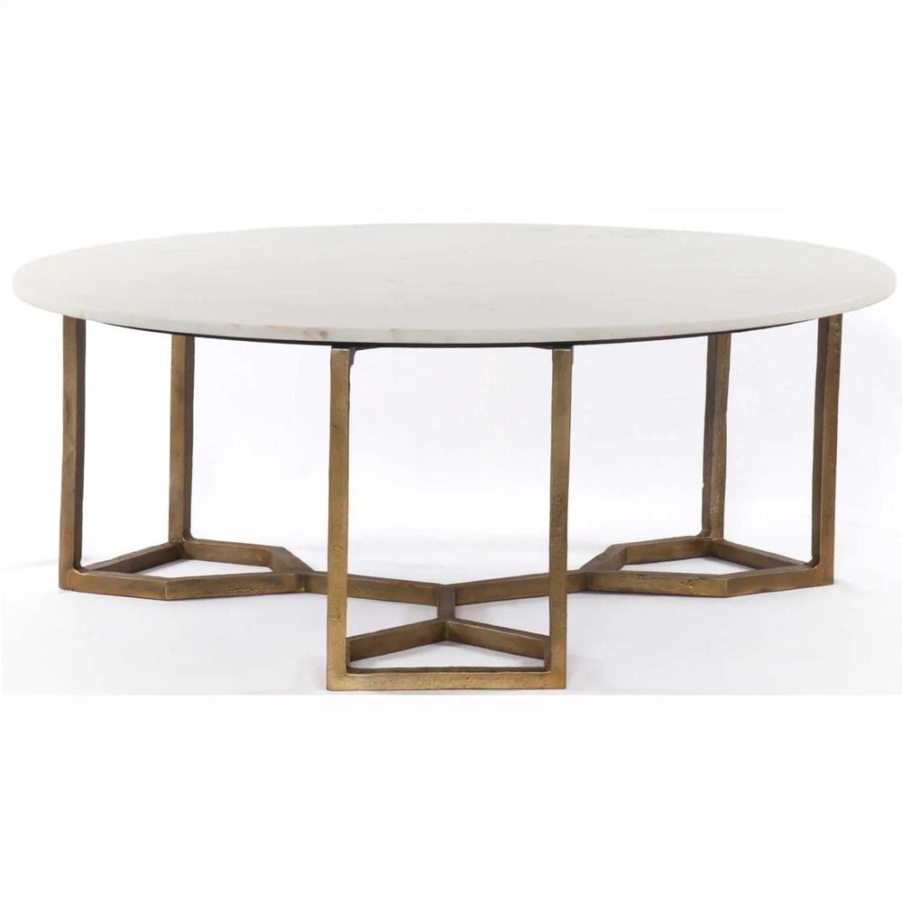 Naomi Coffee Table White Marble Coffee Table Marble Tables Living Room Round Coffee Table [ 1000 x 1000 Pixel ]