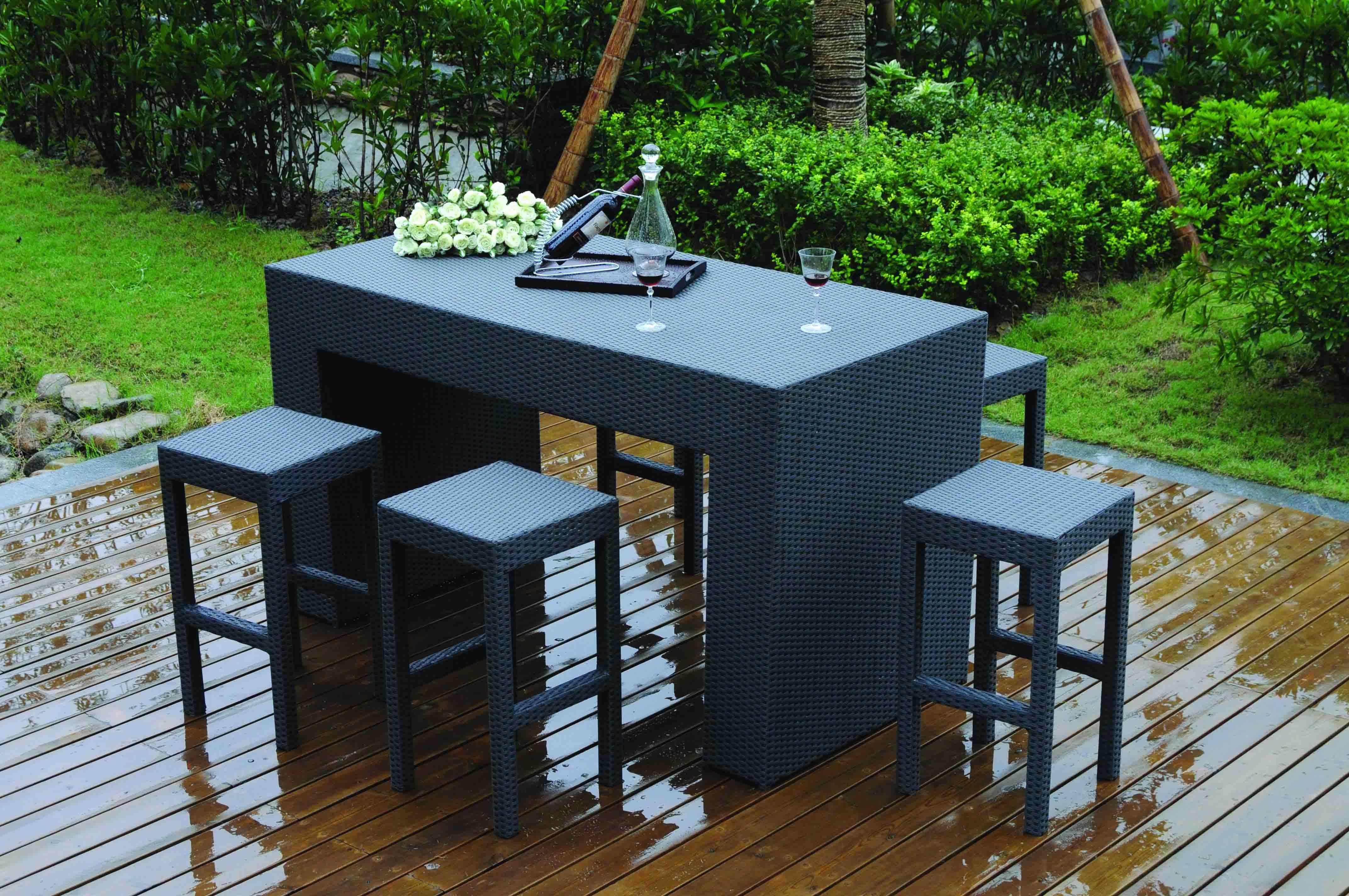 Table Haute 4 Personnes Lovely Salon De Jardin Canape Table Haute ...