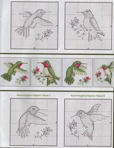 cross stitch pattern hummingbird google zoeken
