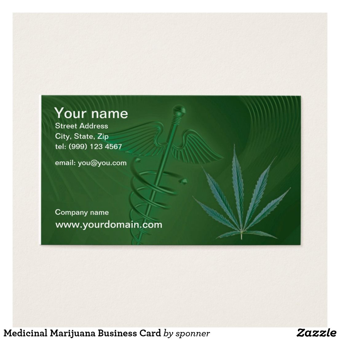 Medicinal Marijuana Business Card Check out more business card ...