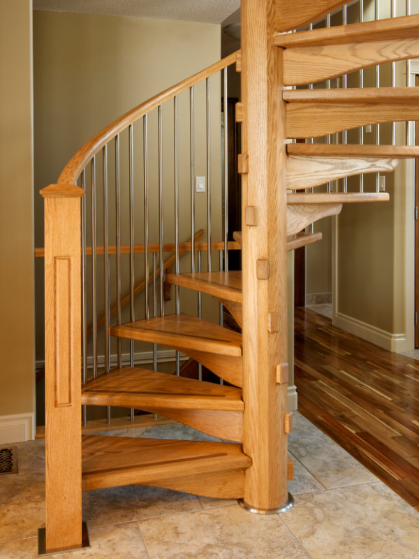 Best Oak Spiral Stairs Stair Railing Staircase 400 x 300