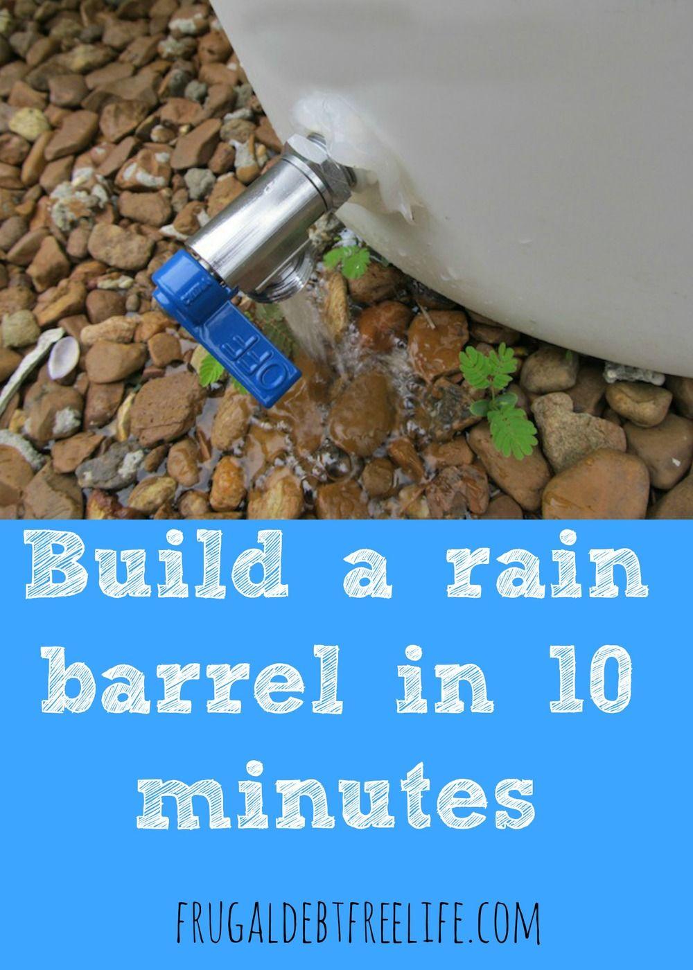 how to build a wooden rain barrel